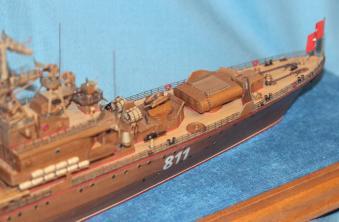 готовая авторская модель-копия ручной работы корабля Беззаветный
