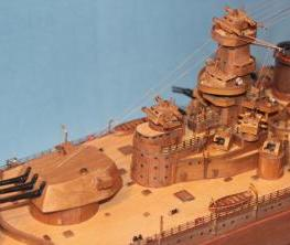 Модель линкора Советский Союз.