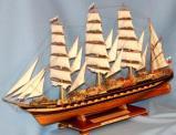 Модель барка Крузенштерн ручной работы