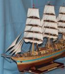 Модель корабля  `Мир`. Нос слева.