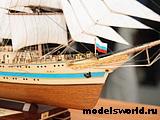 Модель парусного судна `Мир`. 2