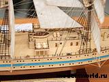 Модель парусного судна `Мир`. 3