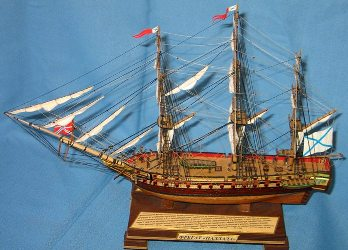 Модель корабля фрегат Паллада. Корпус.
