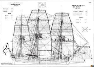 Чертёж корабля Трёх Иерархов. общий вид